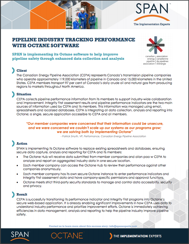 Case Study - PIPELINE INDUSTRY TRACKING PERFORMANCE WITH OCTANE SOFTWARE